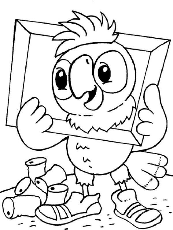 Раскраска Попугай Кеша скачать и распечатать