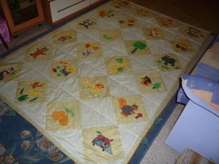 лоскутное одеяло готово