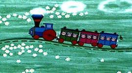 кадр мультфильма паровозик из ромашково