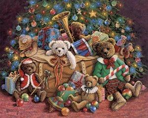 игрушки под елкой