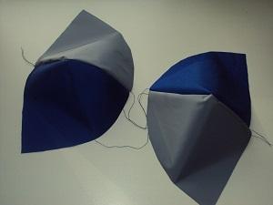 сшиваем клинья шапки