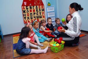 занятие с детьми в центре развития