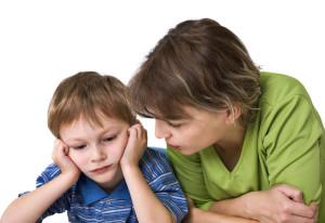 мама разговариет с сыном