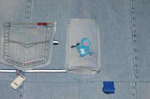 боковой карман на детском рюкзаке