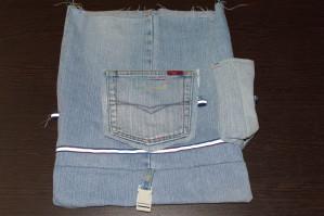 сшиваем боковые стороны рюкзака