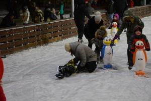 первые падения на льду
