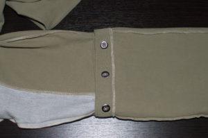 кнопки на брючинах вид с изнаночной стороны