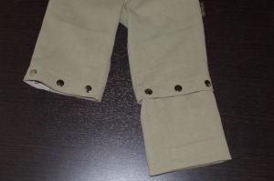вариант трансформирования штанов в бриджи