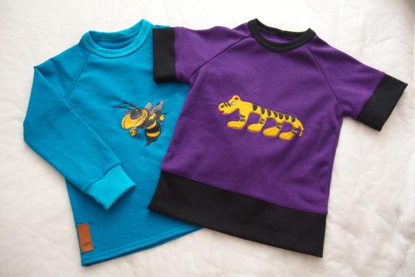 детские футболки с длинными и короткими рукавами