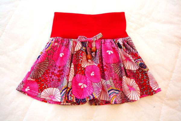 вариант готовой детской трикотажной юбки вид спереди