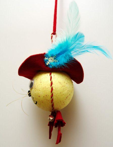 новогодний шар на елку своими руками