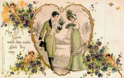старинные валентинки