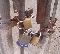 gate locks image