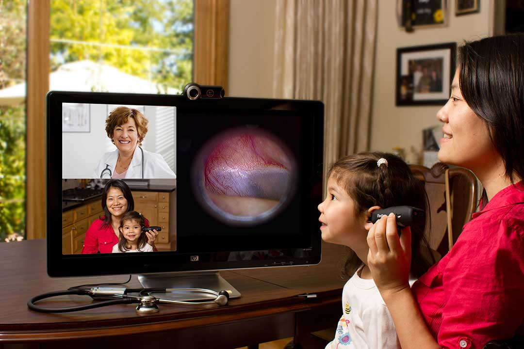 VSee telemedicine child otoscope