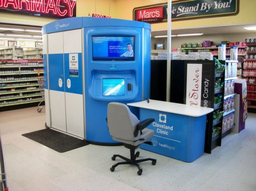 HealthSpot kiosk in RiteAid