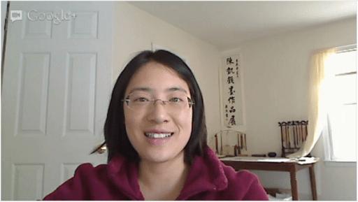 Google+ Hangouts main video window (audio-activated)