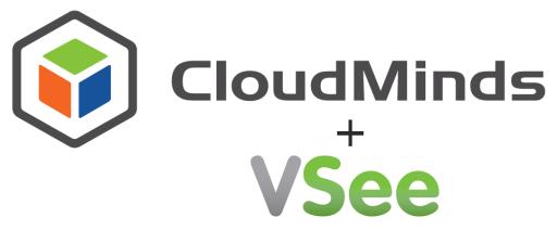 VSee + CloudMinds logos