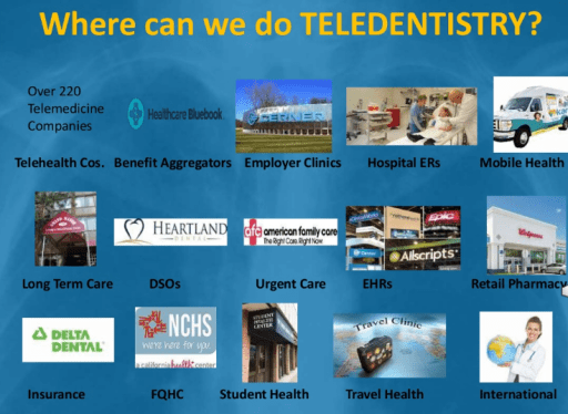 where can we do teledentistry slide Maria Kunstadter