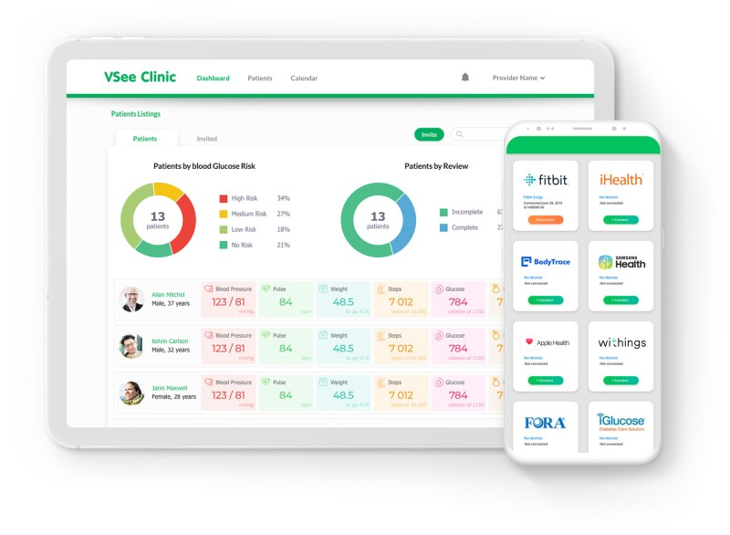 vsee remote patient monitoring dashboard alerts