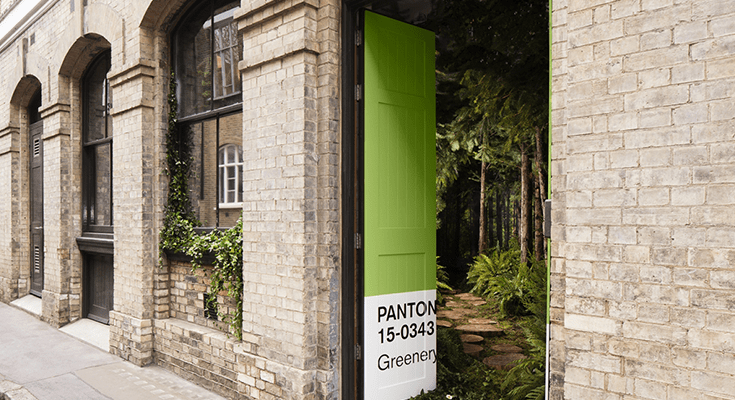 """Airbnb and Pantone Unearth a Color of the Year Experience Through a """"Greenery"""" House"""
