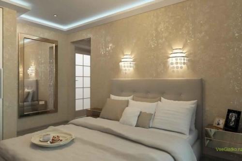 Эко стиль в интерьере спальной-2