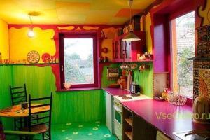 Стиль Китч в интерьере кухни-2
