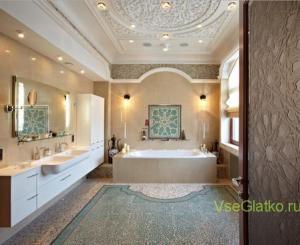 Стиль Фьюжн в интерьере ванной-2