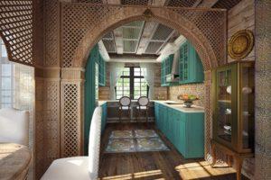 Индийский стиль в интерьере кухни-2