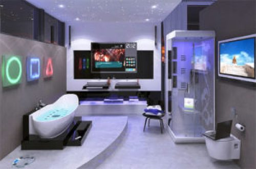 Стиль Хай-тек в интерьере ванной-1