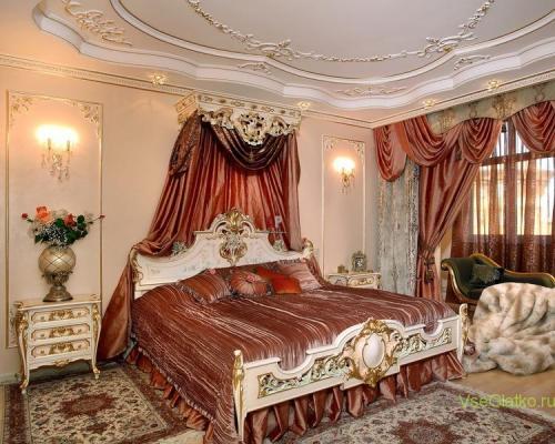 Классический стиль в интерьере спальной-2
