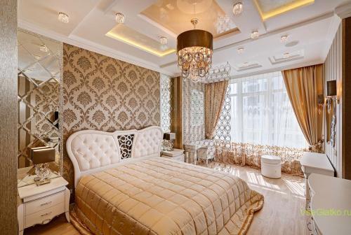 Классический стиль в интерьере спальной-1