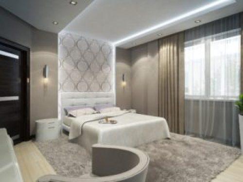 Стиль Минимализм в интерьере спальной-2