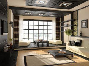 Японский стиль в интерьере гостиной-1