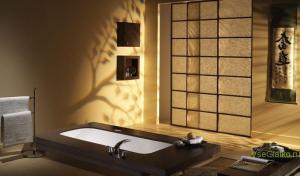 Японский стиль в интерьере ванной-1