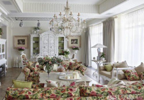 Стиль Прованс в интерьере гостиной-1