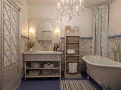Стиль Прованс в интерьере ванной-1