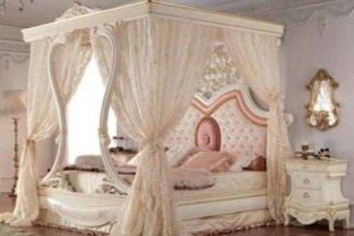 Стиль Рококо в интерьере спальной-1