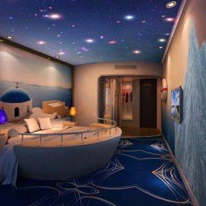 Космический стиль в интерьере детской комнаты-1