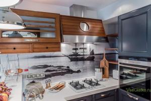 Морской стиль в интерьере кухни-2