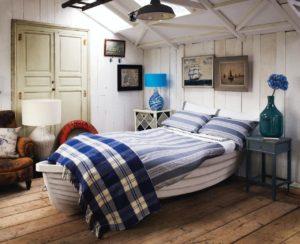 Морской стиль в интерьере спальной-2