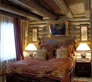 Охотничий стиль в интерьере спальной-2