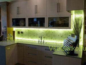 Подсветка светодиодной лентой кухни-1