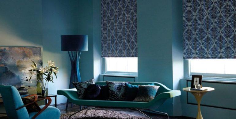 Как крепятся рулонные шторы в гостиной и спальни