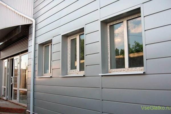 дом с алюминиевым сайдингом