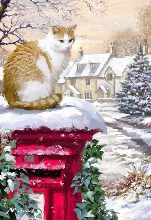 Christmas Eve In Painting By Richard Macneil Art