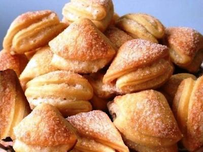 Печенье ушки из творога рецепт творожных ушек