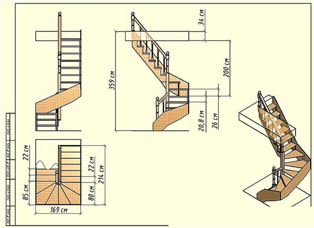 A lépcsők mérete
