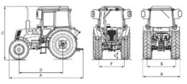 размеры трактора