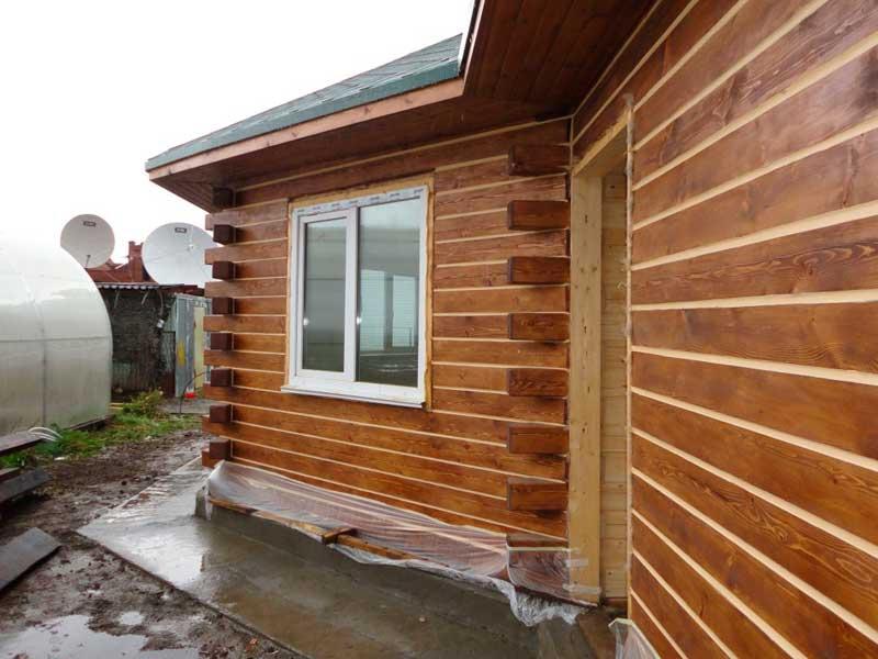 Внешняя отделка домов из бруса и варианты материалов