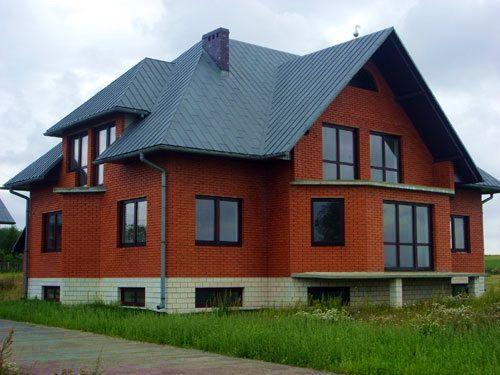 Частные дома из кирпича: фото фасадов, проекты, дизайн, цвета